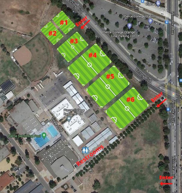 Pierce College Field map